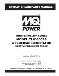 multiquip tlw 300ss specifications