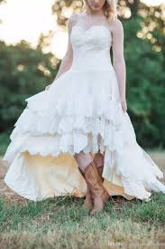 low country style discount high low country style wedding dresses with lace for