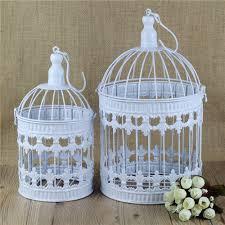 Bird Cage Decor Cage Home Decor Bird Cage Hand Made Antique White Set Decorative