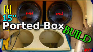 how to make a fiberglass subwoofer box 19 steps with pictures building a ported subwoofer box how to build 4 15 sub enclosure