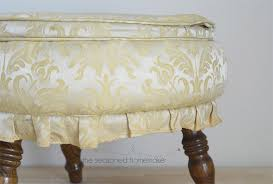 Ottoman Cover Diy Ottoman Makeover An Easy Way To Recover A Footstool