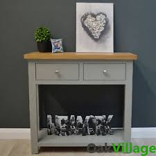 Painted Console Table Greymore Painted Console Table Oak Grey Hallway Furniture