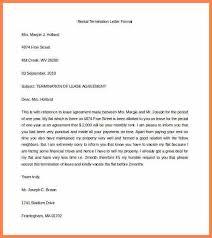 sample lease termination letter sample rental lease termination
