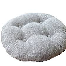Outdoor Bistro Chair Pads Amazon Com Vclife Light Grey Round Chair Pad Indoor Outdoor