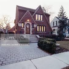 tudor bungalow exteriors tudor style bungalow brick and limestone concrete steps