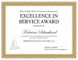service anniversary certificate templates community service award