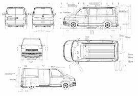 volkswagen van drawing volkswagen transporter t6 2016 blueprint download free blueprint