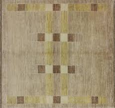 Square Wool Rug Gabbeh Traditional Handmade Wool Earth Tone 5 U0027 Square Hand Knotted