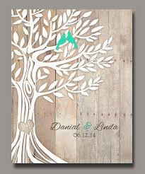 personalized wedding gift birds in tree newly by wordoflove