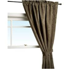 Brentwood Originals Curtains Brentwood Originals Brentwood Black Out Heavy Faux Suede Rod