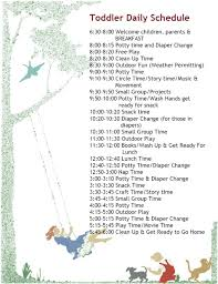 another toddler schedule i u0027m swiping these from daycares