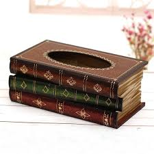 decorative tissue box book pattern tissue box cover decorative tissue holder luxury