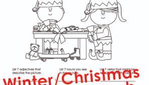 christmas winter parts speech activities kids squarehead