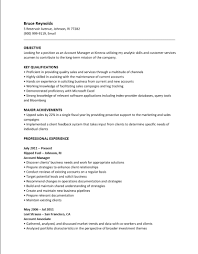 Account Manager Sample Resume Proficient In Software For Resume Resume For Your Job Application