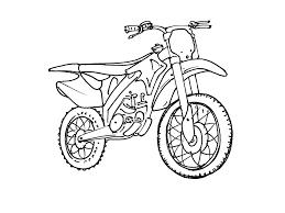 Coloriage De Moto Cross 1014
