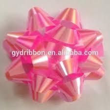 plastic ribbon made mini pp ribbon bow make plastic ribbon bow holographic