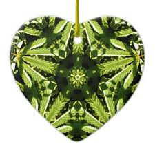 marijuana mandala tree ornament support small