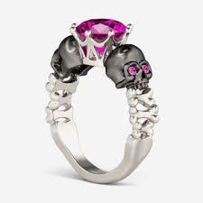 Skull Wedding Rings by Black Diamond Skull Engagement Ring Archives Team 570 Beautiful