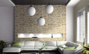 brick wall accent living room fiona andersen