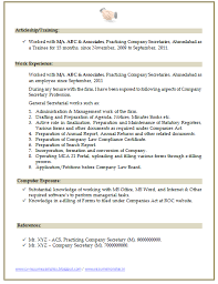 Secretary Resume Over 10000 Cv And Resume Samples With Free Download Company