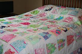 Lilly Pulitzer Furniture by Queen Size Shift Dress Quilt Made With Lilly Pulitzer Fabric