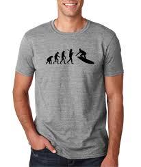 Surf Shirt Meme - mens evolution of man surf surfing board beach t shirt tee surfboard