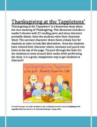 thanksgiving at the tappletons reader s theatre by roxanne hyer