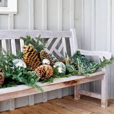 Outdoor Christmas Decorations At B Q by Christmas Decorating Inspiration For Outdoor Doors And Planters