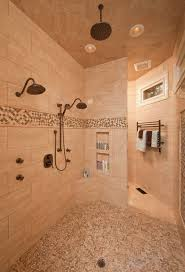 Bathroom Shower Shampoo Holder Raleigh Shower Shampoo Holder Bathroom Traditional With River Rock