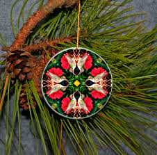 ornament christmas ceramic hummingbird mandala all occasion sacred