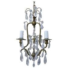 Antique Rock Crystal Chandelier French Three Light Rock Crystal Chandelier Melissa Levinson Antiques