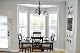near white bay dining room window treatment ideas on grey painted