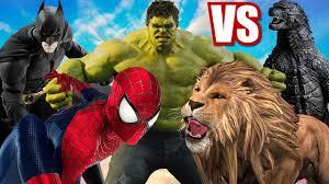 hulk captain america cartoons dinosaurs king kong tiger