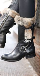 brown moto boots jamie luxe moto moto boots rabbit fur and vintage leather