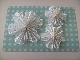 rosie posies creations christmas craft doily snowflakes