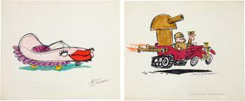 wacky races the wacky racers concept art hanna barbera 1968 anima firenze