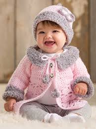 light pink sweater set modern baby sweater set designed by lena skvagerson crochet world