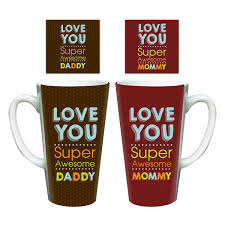 super awesome i love mom dad latte mugs giftsmate