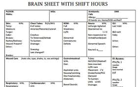 Shift Report Sheet Template The 10 Best Brain Sheets Scrubs The Leading Lifestyle