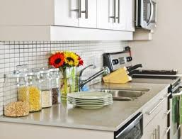 Ideas For Kitchen Countertops And Backsplashes Decorating Ideas For Kitchen Countertops Silver Color Metal Knobs