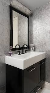 modern bathroom vanity powder room contemporary with wall sconce