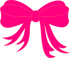 pink bows hot pink bow clip at clker vector clip online