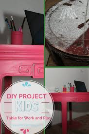 diy kids table for work u0026 play using valspar paint chalky finish