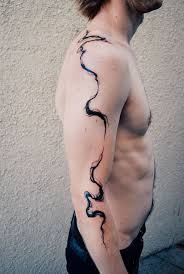 body contour line tattoo by melanie steinway urban element
