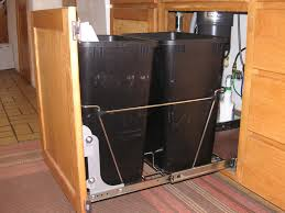 Kitchen Cabinet Trash Can Pull Out Under Sink Trash Can Pull Out Home Design Ideas