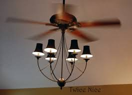 chandelier with ceiling fan attached cool ceiling fans chandeliers attached twice nice big blue and