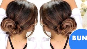 Fancy Updo Hairstyles For Long Hair by 3 Minute Elegant Bun Hairstyles Easy Updo Hairstyles Youtube