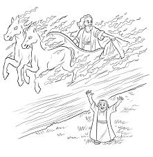 bible chariot coloring page
