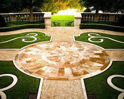 french home landscaping ideas with gravel and grass french home