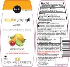 publix super markets inc regular strength drug facts